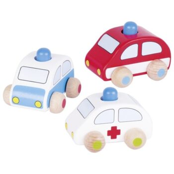 Vehicles with horn, police, fire brigade and ambulance
