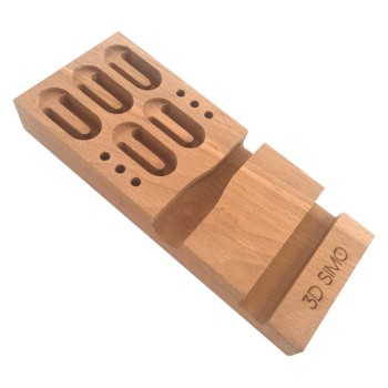 Wooden stand for 3D pens