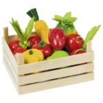 Fruits and vegetables in crate